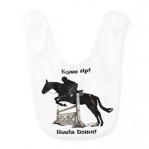 Eyes Up! Heels Down! Horse Jumper Bib