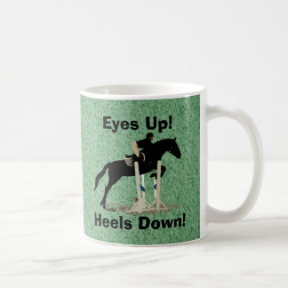 Eyes Up! Heels Down! Horse Jumper Coffee Mug
