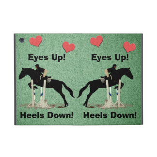 Eyes Up! Heels Down! Horse Jumper Covers For iPad Mini
