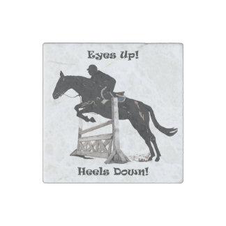 Eyes Up! Heels Down! Horse Jumper Stone Magnet
