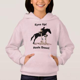 Eyes Up! Heels Down! Horse Jumper Hoodie