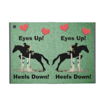 Eyes Up! Heels Down! Horse Jumper iPad Mini Cover