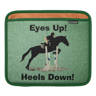 Eyes Up! Heels Down! Horse Jumper Sleeve For iPads