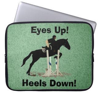 Eyes Up! Heels Down! Horse Jumper Laptop Sleeve