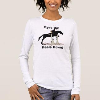Eyes Up! Heels Down! Horse Jumper Long Sleeve T-Shirt