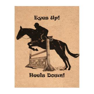 Eyes Up! Heels Down! Horse Jumper Photo Cork Paper