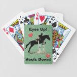 Eyes Up! Heels Down! Horse Jumper Poker Deck