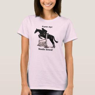 Eyes Up! Heels Down! Horse Jumper T-Shirt