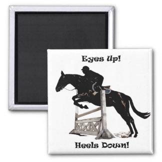 Eyes Up! Heels Down! Horse Fridge Magnet