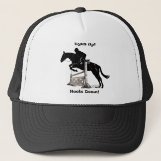 Eyes Up! Heels Down! Horse Trucker Hat