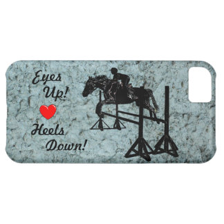 Eyes Up! Heels Down! Hunter Jumper iPhone 5 Case
