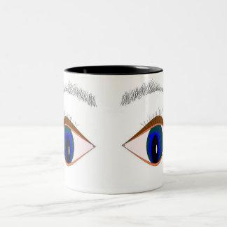 Eyes Watching You Two-Tone Coffee Mug
