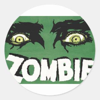 EYES ZOMBIE Zᴏᴍʙɪ Zᴜᴍʙɪ  Spirit  Halloween Classic Round Sticker