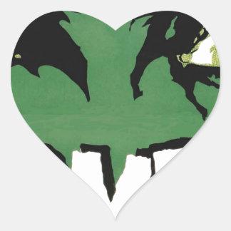 EYES ZOMBIE Zᴏᴍʙɪ Zᴜᴍʙɪ  Spirit  Halloween Heart Sticker
