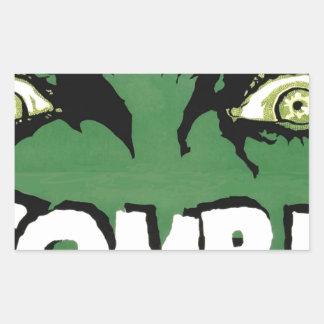 EYES ZOMBIE Zᴏᴍʙɪ Zᴜᴍʙɪ  Spirit  Halloween Rectangular Sticker
