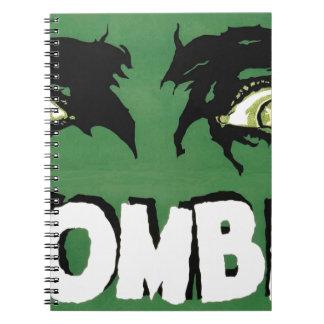 EYES ZOMBIE Zᴏᴍʙɪ Zᴜᴍʙɪ  Spirit  Halloween Spiral Note Book