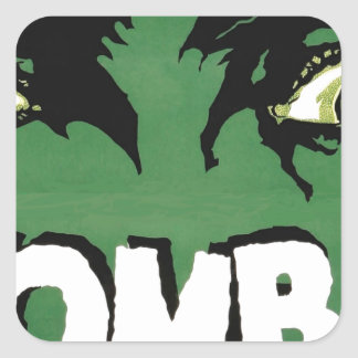 EYES ZOMBIE Zᴏᴍʙɪ Zᴜᴍʙɪ  Spirit  Halloween Square Sticker