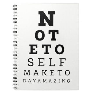 Eyesight Test Note To Self Make Today Amazing Notebook