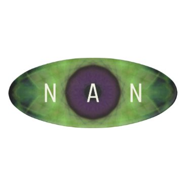Halloween Themed Eyesore Evil Eye Lime Mandala Name Tag