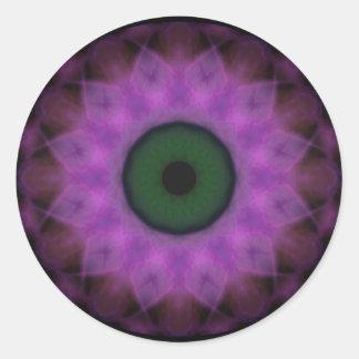 Eyesore Purple Evil Eye Classic Round Sticker