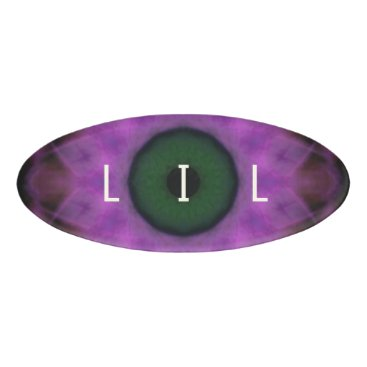 Halloween Themed Eyesore Purple Evil Eye Mandala Name Tag