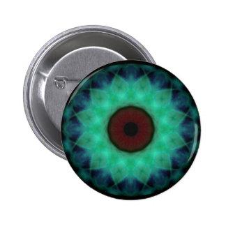 Eyesore Teal Evil Eye 2 Inch Round Button