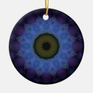 Eyesore Violet Blue Evil Eye Ceramic Ornament