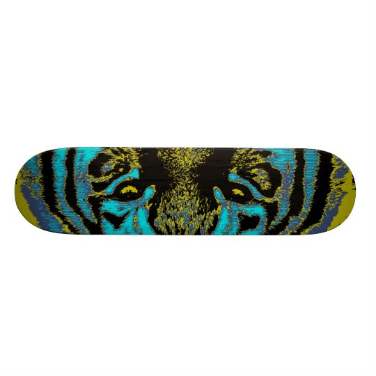 Eyes's Tiger - Fine Art Skateboard