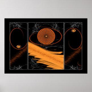 EyeTri Triptych Poster