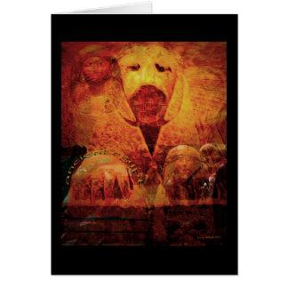 Eygpt antiguo tarjeta de felicitación