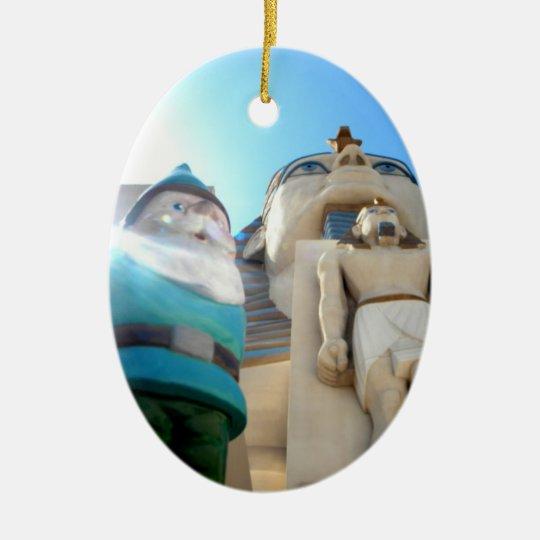 Eygpt Gnome Ceramic Ornament