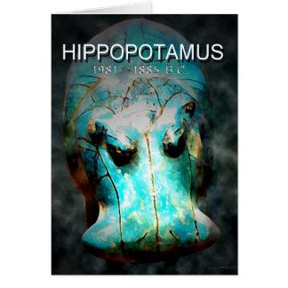 EYGPTIAN BLUE HIPPO CARD