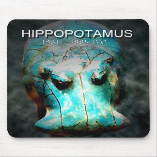 EYGPTIAN BLUE HIPPO MOUSEPAD