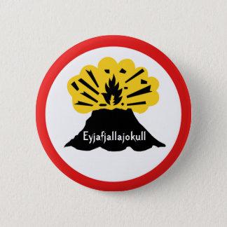 Eyjafjallajokull Volcano Button Badge