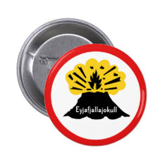 Eyjafjallajokull Volcano Button Badge at Zazzle