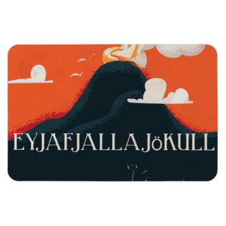 Eyjafjallajökull Volcano Travel Poster Magnet