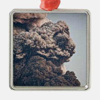 Eyjafjalljokull Volcanic Eruption Metal Ornament