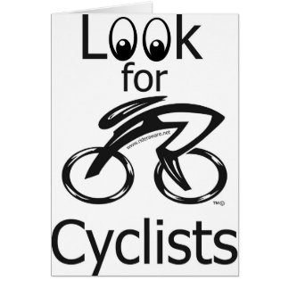 Eylook for cyclists greeting card