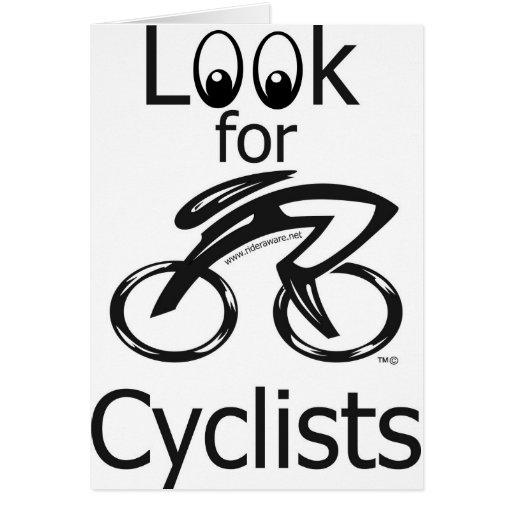 Eylook para los ciclistas tarjeta de felicitación