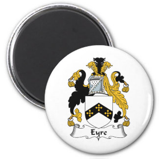 Eyre Family Crest 2 Inch Round Magnet