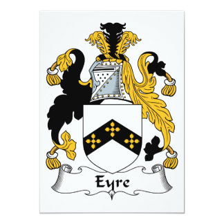Eyre Family Crest 5x7 Paper Invitation Card