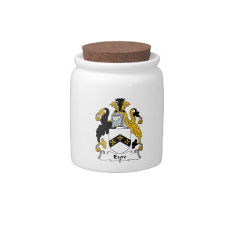 Eyre Family Crest Candy Jars