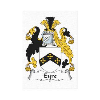 Eyre Family Crest Canvas Print