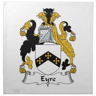 Eyre Family Crest Cloth Napkin