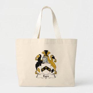 Eyre Family Crest Jumbo Tote Bag