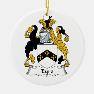 Eyre Family Crest Double-Sided Ceramic Round Christmas Ornament