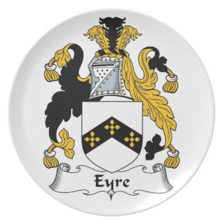 Eyre Family Crest Party Plate
