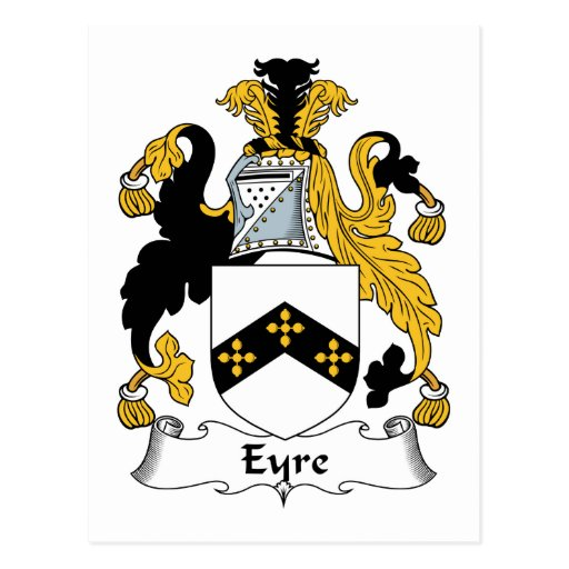 Eyre Family Crest Postcard