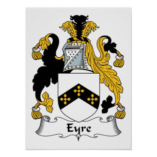 Eyre Family Crest Poster