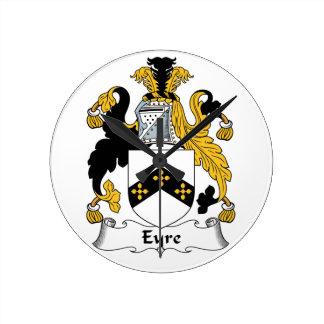 Eyre Family Crest Round Clocks